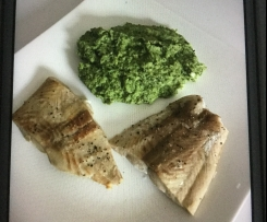 low carb Broccoli mit Lachs