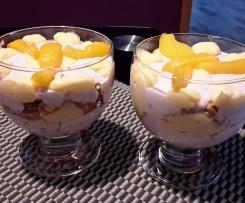 Wild Preiselbeeren mit Quark  trifft Vanille Creme und Pfirsich