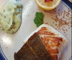 Gerrys SKREI - das ist DIE Delikatesse von den Lofoten! Mit Kartoffel-Zucchini-Püree.