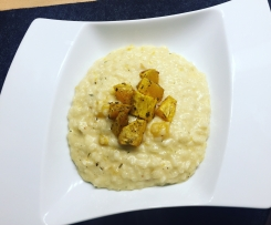 Süßkartoffel-Risotto mit Feta