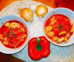 Tomatiger Schnitzel-Paprika-Topf