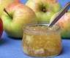 Apfelmarmelade mit Ingwer