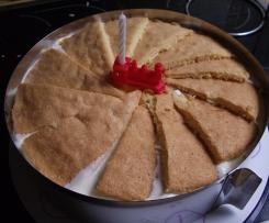 Variation von Käsesahne-Torte