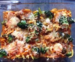 WW Spaghettigratin mit Spinat und Tomate