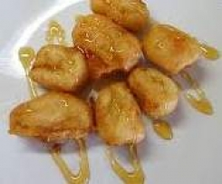 Gebackene Bananen in Honig