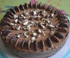 Nougat-Mousse-Torte