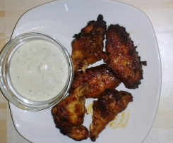 Buffalo Wings mit blue cheese dip (Typisch American Style)