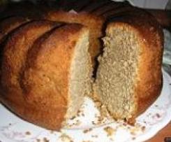 Vollkorn-Bananen-Mandel- (oder Nuss-) Kuchen